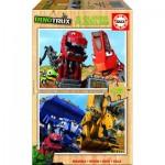 2 Puzzles en Bois - Dreamworks - Dinotrux