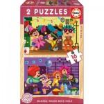 2 Puzzles en Bois - Fête Costumée
