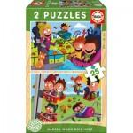 2 Puzzles en Bois - Fête Foraine