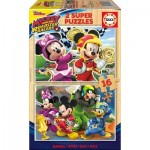2 Puzzles en Bois - Mickey and The Roadster Racers