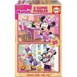 2 Puzzles en Bois - Minnie