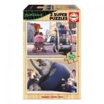 2 Puzzles en Bois - Zootropolis
