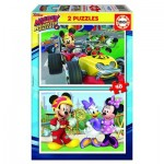2 Puzzles - Mickey and The Roadster Racers