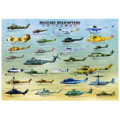 Puzzle Eurographics-6000-0088 Hélicoptères Militaires