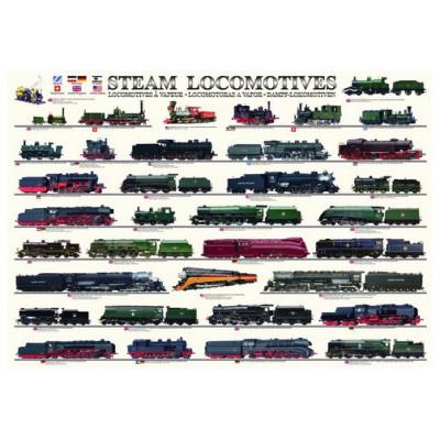 Puzzle Eurographics-6000-0090 Locomotives à vapeur