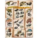 Puzzle  Eurographics-6000-0096 Reconstitution de crânes de Dinosaures