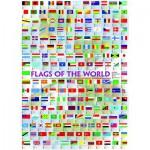 Puzzle  Eurographics-6000-0128 Drapeaux du monde