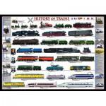Puzzle  Eurographics-6000-0251 Histoire des trains
