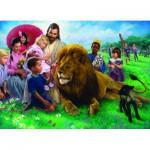 Puzzle  Eurographics-6000-0345 Nathan Greene : Le Lion et l'Agneau