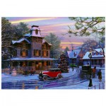 Puzzle  Eurographics-6000-0427 Dominic Davison - Retour à la maison en voiture pour Noël
