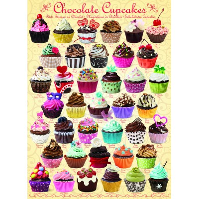 Puzzle Eurographics-6000-0587 Cupcakes au chocolat