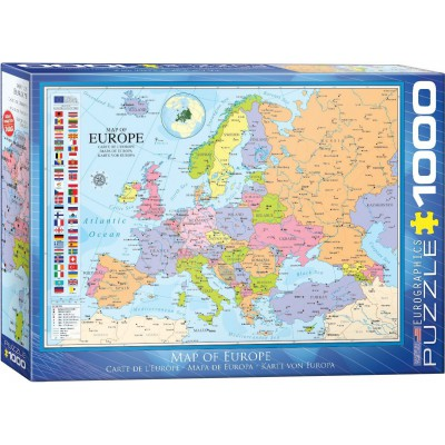 Puzzle Eurographics-6000-0789 Carte d'Europe