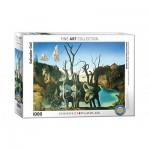 Puzzle  Eurographics-6000-0846 Salvador Dalí - Cygnes réfléchis en Eléphants