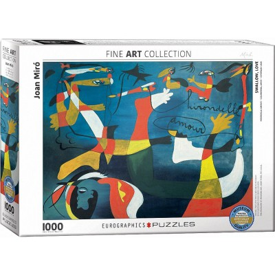 Puzzle Eurographics-6000-0859 Joan Miro - Hirondelle Amour