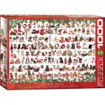 Puzzle  Eurographics-6000-0939 Chiens de Noël
