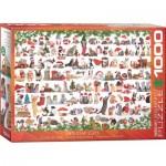 Puzzle  Eurographics-6000-0940 Chats de Noël