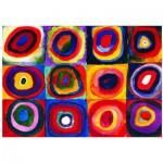 Puzzle  Eurographics-6000-1323 Kandinsky : Etude de couleurs de carrés