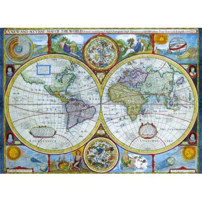 Puzzle Eurographics-6000-2006 Carte du monde antique