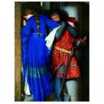 Puzzle  Eurographics-6000-3682 Fredrick Burton : Rendez-vous sur l'Escalier de Tourelle