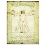 Puzzle  Eurographics-6000-5098 Leonard de Vinci : L'homme de Vitruve
