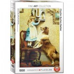 Puzzle  Eurographics-6000-5330 Charles Burton Barber - Little Girl and her Sheltie