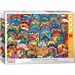 Puzzle  Eurographics-6000-5421 Assiettes Mexicaines