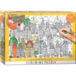 Puzzle  Eurographics-6033-0882 Color Me XXL - Maisons de Ville