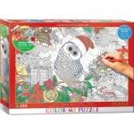 Puzzle  Eurographics-6033-0885 Color Me XXL - Houx Houx Hibou