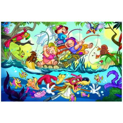 Puzzle Eurographics-6035-0423 Les trois petits cochons