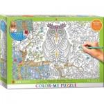 Puzzle  Eurographics-6055-0887 Color Me XXL - Hibou