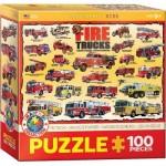 Puzzle  Eurographics-6100-0239 Camions de Pompier Américains
