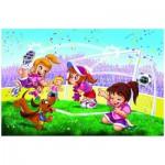 Puzzle  Eurographics-6100-0413 Allez les filles Allez ! Football