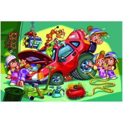 Puzzle Eurographics-6100-0650 Girl Power - Mécanicienne