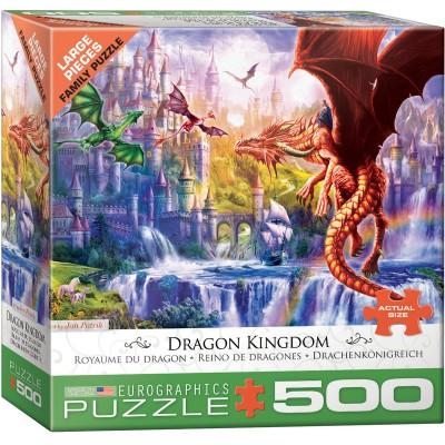 Puzzle Eurographics-6500-5362 Pièces XXL - Royaume du Dragon