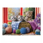 Puzzle  Eurographics-6500-5500 Pièces XXL - Knittin' Kittens