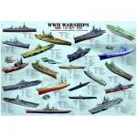 Puzzle  Eurographics-8000-0133 Bateaux de guerre de la seconde guerre mondiale
