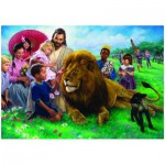 Puzzle  Eurographics-8000-0345 Nathan Greene : Jésus, le lion et l'agneau