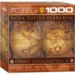 Puzzle  Eurographics-8000-1084 Vieille Carte du Monde