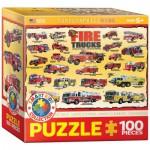Puzzle  Eurographics-8100-0239 Camions de Pompiers Vintages