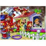 Puzzle  Eurographics-8100-0512 Girl Power - Pompiers