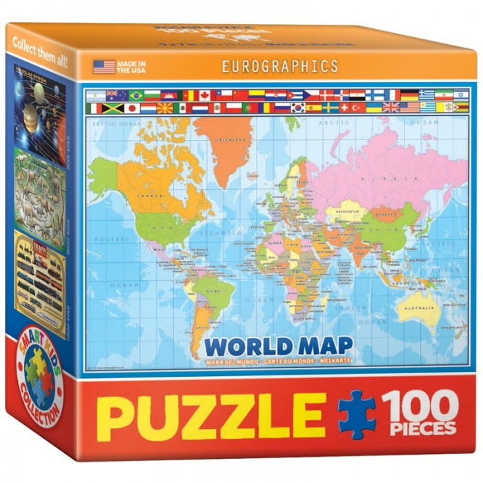 Mini Puzzle - World Map for Kids