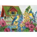 Puzzle  Eurographics-8300-0603 Grende - Cottage d'oiseaux en campagne