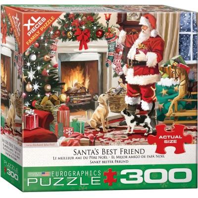 Puzzle Eurographics-8300-5399 Pièces XXL - Santa's Best Friend