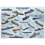 Puzzle  Eurographics-8500-0133 Bateaux de guerre de la seconde guerre mondiale