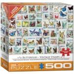 Puzzle  Eurographics-8500-5356 Pièces XXL - Timbres Vintage Papillons