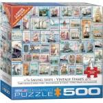 Puzzle  Eurographics-8500-5357 Pièces XXL - Sailing Ships - Vintage Stamps