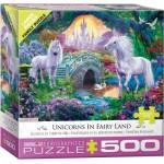 Puzzle  Eurographics-8500-5363 Pièces XXL - Licornes en Terre de Fées