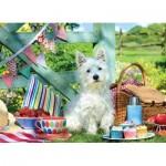 Puzzle   Pièces XXL - Scottie Dog Picnic