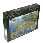 Puzzle  Jumbo-11057 Carte de l'Europe