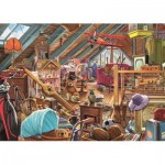 Puzzle  Jumbo-11128 Steve Crisp - Toys in the Attic